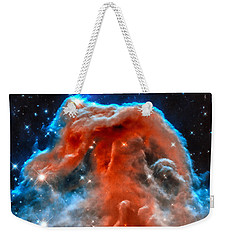 Space Image Horsehead Nebula Orange Red Blue Black Weekender Tote Bag by Matthias Hauser