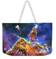 Space Image Mystic Mountain Carina Nebula Weekender Tote Bag by Matthias Hauser
