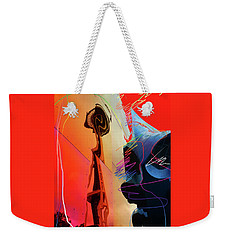 Weekender Tote Bag featuring the digital art Space Needle Reflection 1 by Walter Fahmy