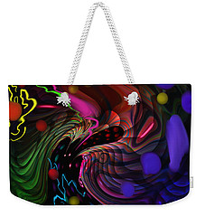 Weekender Tote Bag featuring the painting Space Rocks by Kevin Caudill
