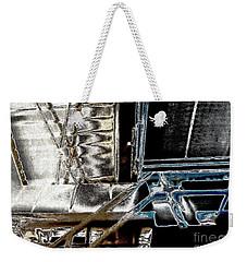 Weekender Tote Bag featuring the digital art Space Station by Marsha Heiken