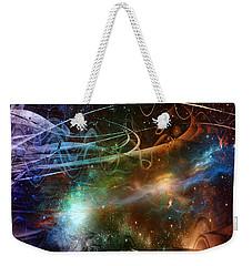 Weekender Tote Bag featuring the digital art Space Time Continuum by Linda Sannuti