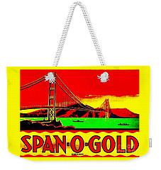 Span O Gold Golden Gate Bridge Weekender Tote Bag by Peter Gumaer Ogden