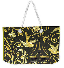 Spanish Artistic Birds Weekender Tote Bag by Linda Phelps