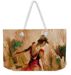 Weekender Tote Bag featuring the painting Spanish Dance Culture  by Gull G