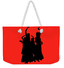 Weekender Tote Bag featuring the photograph Spanish Dancers by Jeff Burgess