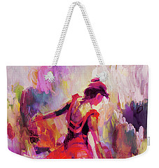 Weekender Tote Bag featuring the painting Spanish Female Art 0087 by Gull G