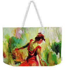 Weekender Tote Bag featuring the painting Spanish Female Art 56y by Gull G