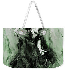 Weekender Tote Bag featuring the painting Spanish Flamenco Dancer by Gull G