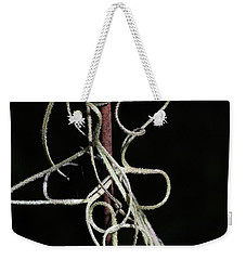 Weekender Tote Bag featuring the photograph Spanish Moss On Wire by Richard Rizzo