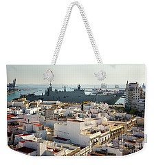 Weekender Tote Bag featuring the photograph Spanish Navy Ship Juan Carlos I Cadiz Spain by Pablo Avanzini