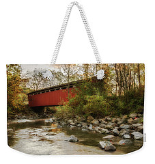 Weekender Tote Bag featuring the photograph Spanning Across The Stream by Dale Kincaid