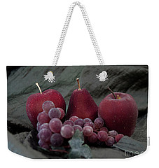 Weekender Tote Bag featuring the photograph Sparkeling Fruits by Sherry Hallemeier