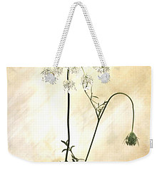 Sparkle Flower Weekender Tote Bag