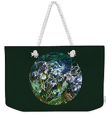 Weekender Tote Bag featuring the painting Sparkle In The Shade by Mary Wolf