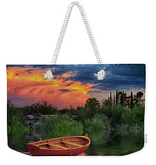Sparkle Pond Weekender Tote Bag