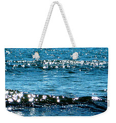 Weekender Tote Bag featuring the photograph Sparkle Waves  by Cindy Greenstein