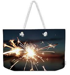 Sparklers After Sunset Weekender Tote Bag by Kelly Hazel