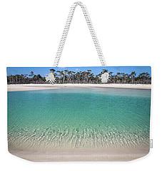 Sparkling Beach Lagoon On Deserted Beach Weekender Tote Bag