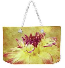 Sparkling Dahlia Weekender Tote Bag by Beve Brown-Clark Photography