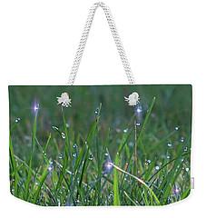 Sparkling Dew Drops Weekender Tote Bag
