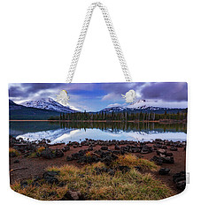 Weekender Tote Bag featuring the photograph Sparks Lake by Cat Connor