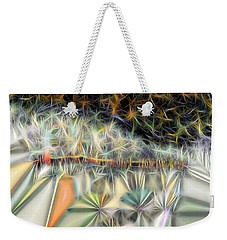 Weekender Tote Bag featuring the digital art Sparks by Ron Bissett