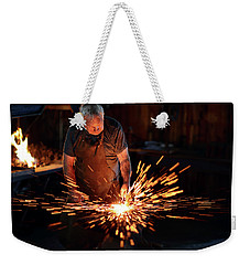 Sparks When Blacksmith Hit Hot Iron Weekender Tote Bag