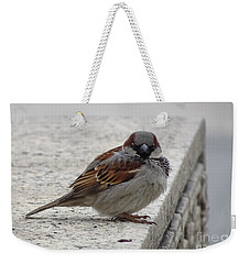 Weekender Tote Bag featuring the photograph Sparrow by Angela DeFrias