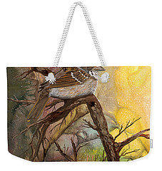 Weekender Tote Bag featuring the painting Sparrow by Sherry Shipley