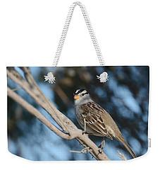 Sparrow Time Weekender Tote Bag by Fraida Gutovich