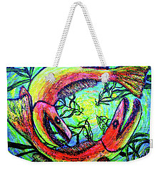 Weekender Tote Bag featuring the painting Spawn by Viktor Lazarev
