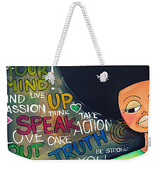Speak Weekender Tote Bag