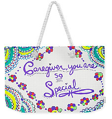 Weekender Tote Bag featuring the drawing Special by Carole Brecht