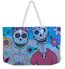 Weekender Tote Bag featuring the painting Special Mexican Wedding by Pristine Cartera Turkus
