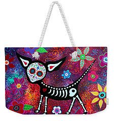 Weekender Tote Bag featuring the painting Special Perrito by Pristine Cartera Turkus