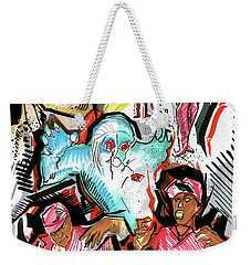 Weekender Tote Bag featuring the painting special project 1A by John Jr Gholson