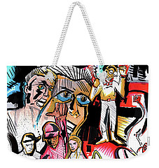 Weekender Tote Bag featuring the painting special project 1B by John Jr Gholson