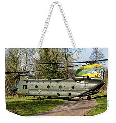 Special Tail Chinook 27 Squadron Weekender Tote Bag by Ken Brannen