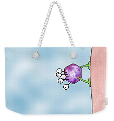 Weekender Tote Bag featuring the drawing Speck by Uncle J's Monsters