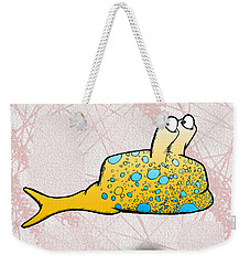 Weekender Tote Bag featuring the drawing Speckle by Uncle J's Monsters