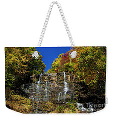 Weekender Tote Bag featuring the photograph Spectacular Fall Color At Amicalola Falls by Barbara Bowen