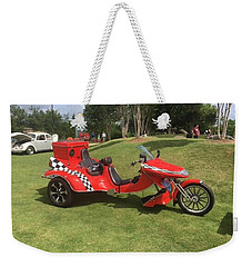 Weekender Tote Bag featuring the photograph Speed Racer Trike by Aaron Martens