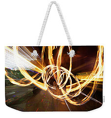 Speed Spin Weekender Tote Bag