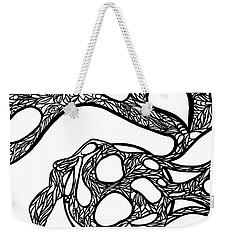 Weekender Tote Bag featuring the drawing Sphere by Jamie Lynn