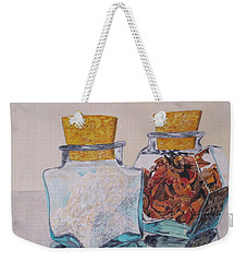 Spice Jars Weekender Tote Bag by Hilda and Jose Garrancho