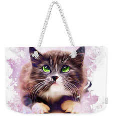 Spice Kitty Weekender Tote Bag by Kathy Kelly