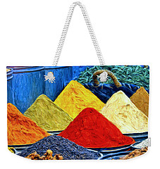 Spice Market In Casablanca Weekender Tote Bag by Dominic Piperata