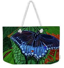 Spicebush Swallowtail Weekender Tote Bag by Susan Duda
