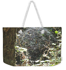 Weekender Tote Bag featuring the photograph Spider Dome by Marie Neder